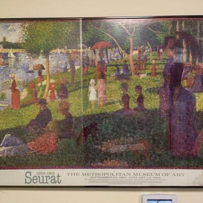 Seurat framed print / The Metropolitan Museum of art