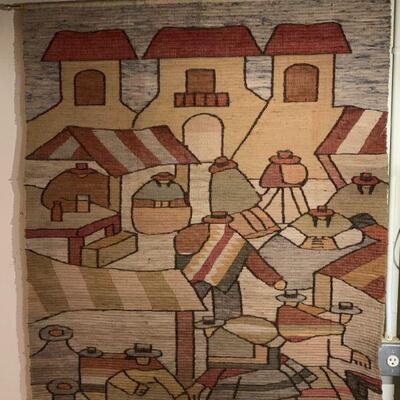 Hand made South American / Peru wall hanging