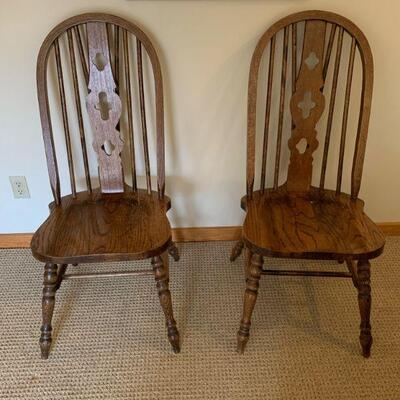 6 Oak table chairs