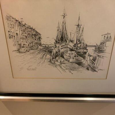 Jas F. Murray Etching Old