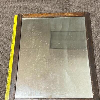Large Dark Wood Framed Mirror