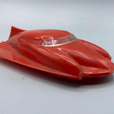 Vintage Red Aerocar Plastic Futuristic Toy Car