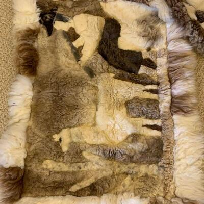 Alpaca rug 3' x 2' #1