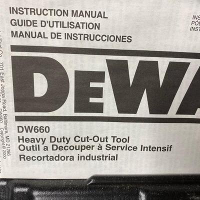 DeWalt DW660 Heavy Duty Cut Out Tool