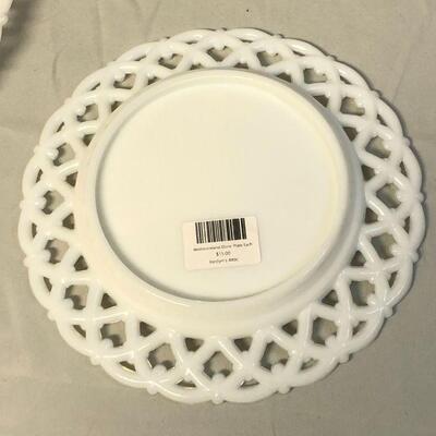 Lot 5 - Westmoreland Doric Milk Glass Plates