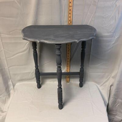 Lot 6 - Solid Wood Demilune Side Table LOCAL PICK UP ONLY