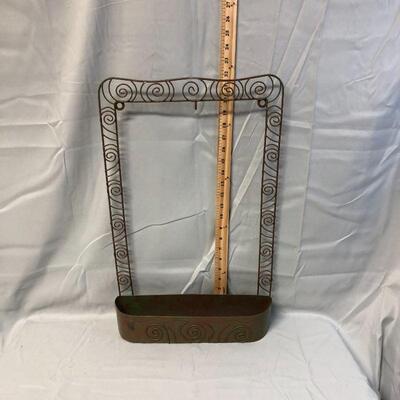 Lot 7 - Metal Wall Hanging Basket