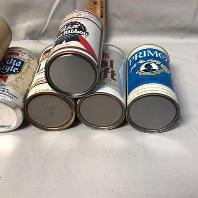 Lot 9 - 10 Vintage Pull Tab Beer Cans