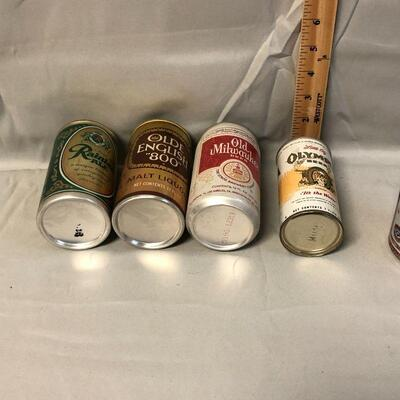 Lot 10 - 5 Vintage Pull Tab Beer Cans