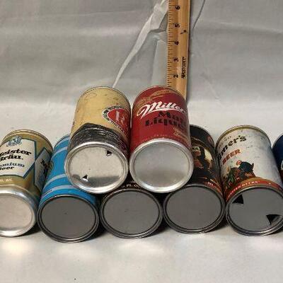 Lot 11 - 10 Vintage Pull Tab Beer Cans