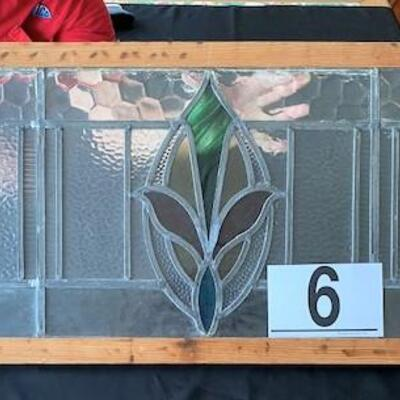LOT#6LR: Stained Glass Transom