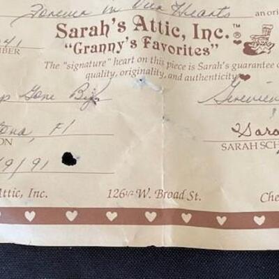 LOT#15LR: Sarah's Attic Signed