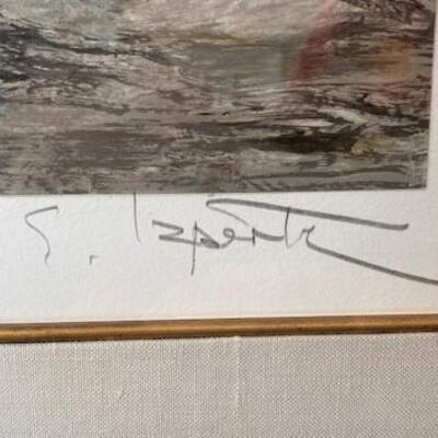 LOT#20LR: Artist Signed & Numbered Sailboat on Beach Print