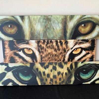 LOT#22LR: Artist Guild of America Series of 3 Cat Eyes