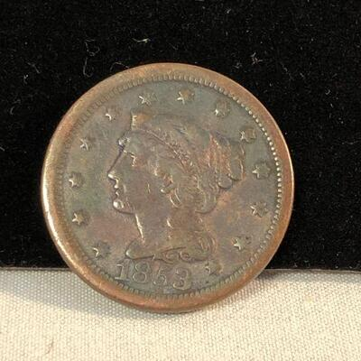 Lot 2 - 1853 Large Cent Penny