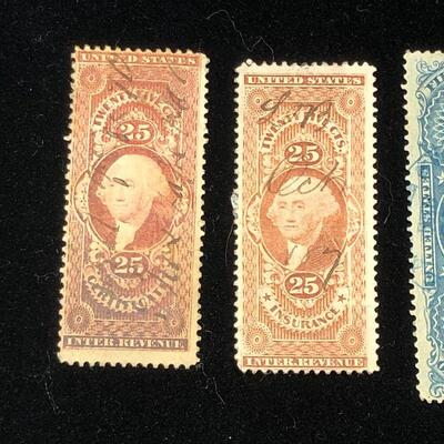 Lot 6 - 4 US Internal Revenue Stamps