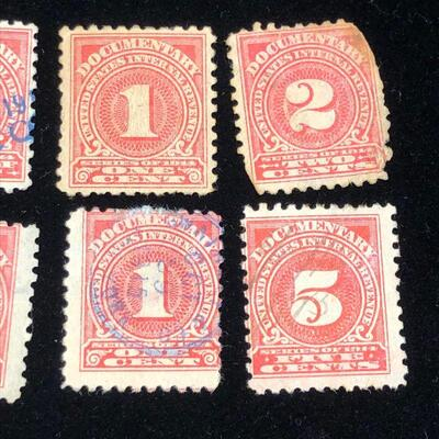Lot 8 - 6 US Internal Revenue Documentary Stamps