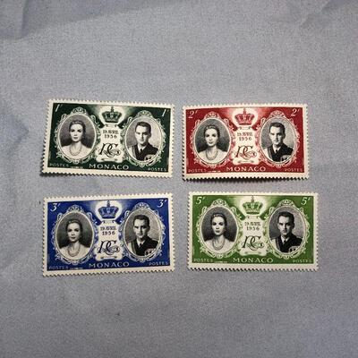 Lot 16 - 4 Princess Grace Stamps from Monaco