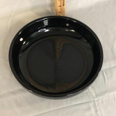 Lot 16 - Black Ceramic Serving Bowl Possibly McCoy