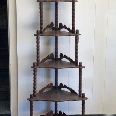 Lot 1 - Solid Wood Corner Shelf LOCAL PICKUP ONLY