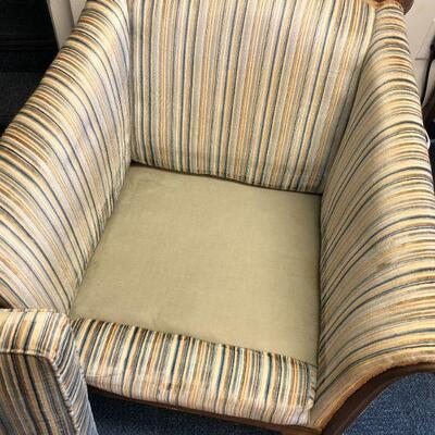 Lot 2 - Antique Striped Sitting Chair LOCAL PICKUP ONLY