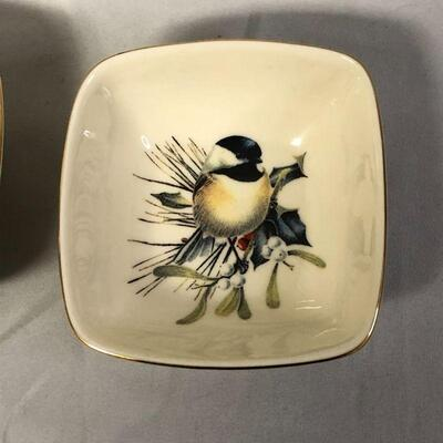Lot 7 - Two Lenox Winter Greetings Dishes