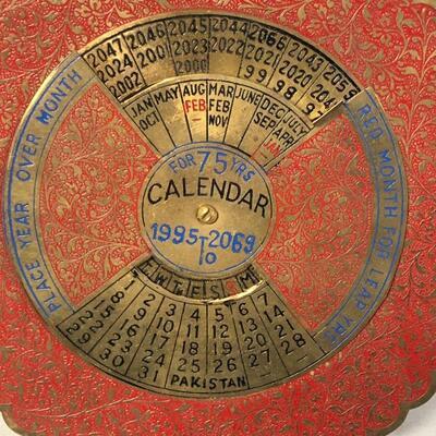 Lot 11 - 75 Year Perpetual Calendar