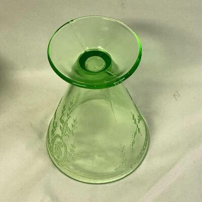 Lot 12 - Belmont Tumbler Rose Cameo Glass Uranium Glass