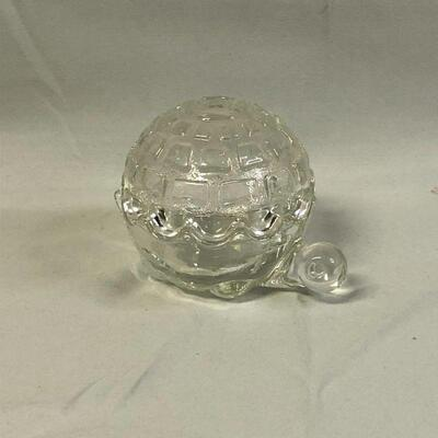 Lot 15 - Anchor Hocking Glass Turtle Trinket Box