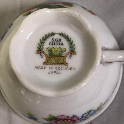 Lot 16 - SGK Occupied Japan Demitasse Cup and Saucer