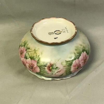 Lot 18 - Hand Painted Reichenbach Pink Roses Box