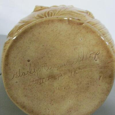 Lot 4 - Greyhound Dog Hunting Wild Game Decorative Ceramic Pottery Pitcher
