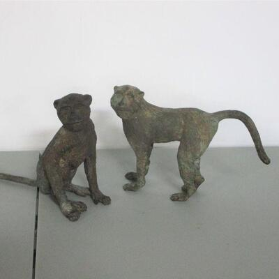 Lot 6 - Pair Of Cast Iron Monkeys