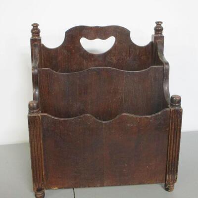 Lot 8 - Vintage Wooden Magazine Rack
