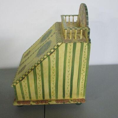 Lot 13 - Wooden Recipe Greeting Card Box Storage Holder