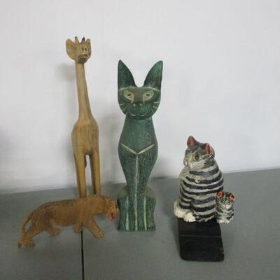 Lot 14 - Wooden Animal Figures