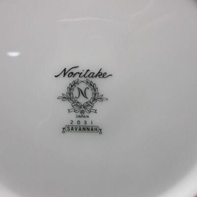 Lot 2 - Noritake Savannah # 2031  Platinum Trim 9 Piece Serving Set