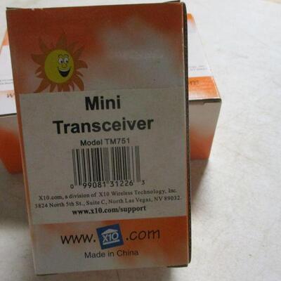 Lot 9 - X10 Mini Transceivers Model TM751