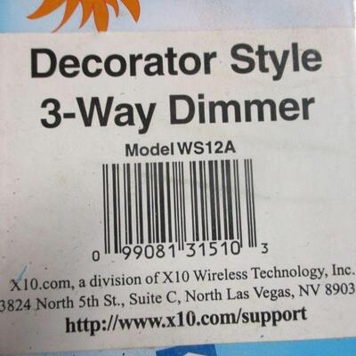 Lot 17 - X10 Decorator Style 3-Way Dimmer Model WS12A & Decorator Wall Switch