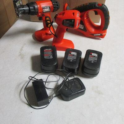 Lot 37 - Black & Decker Hand Tools With Batteries