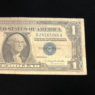 Lot 1 - 1957 A Blue Seal Silver Certificate