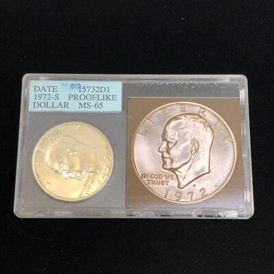 Lot 11 - Unc 1972 S Eisenhower Dollar Prooflike