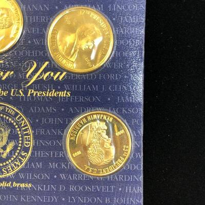 Lot 12 - 1997 Presidential Coins Solid Brass