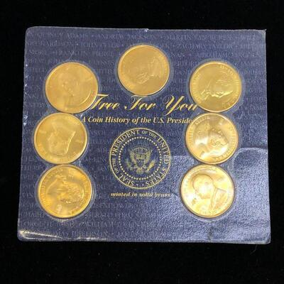Lot 13 - 1997 Presidential Coins Solid Brass