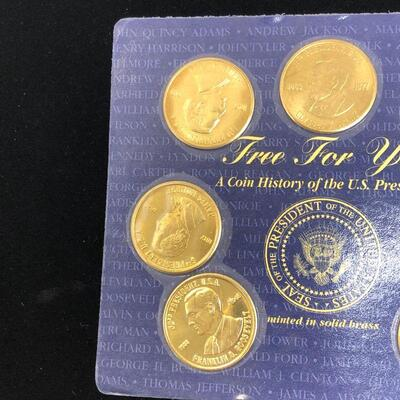 Lot 14 - 1997 Presidential Coins Solid Brass