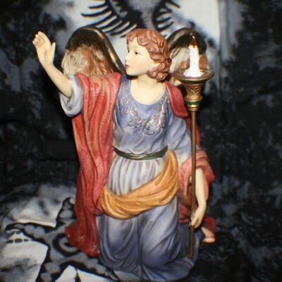 Ceramic Angel with Candle