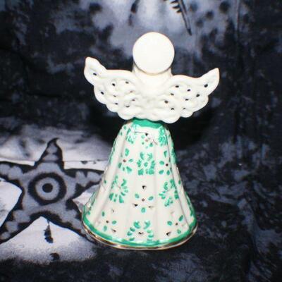 Porcelain Mint Green Angel Bell