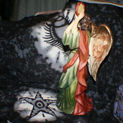 Ceramic Angel with Tambourine