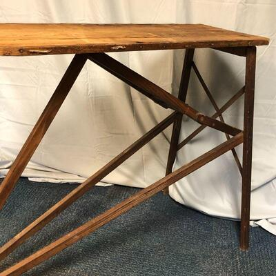 Lot 1 - Antique Wood Ironing Board LOCAL PICKUP ONLY