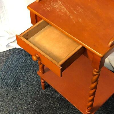 Lot 5 - Wood Side Table with Drawer LOCAL PICK UP ONLY